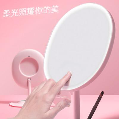 輕智能 1:1臉型化妝鏡 柔光 補妝鏡 補光鏡 放大鏡 彩妝鏡子 桌上鏡子 (4.8折)