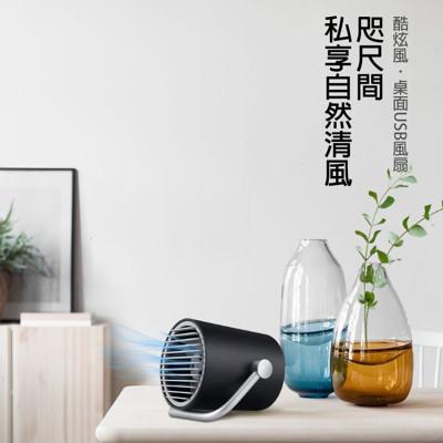 【Smart frog】酷炫風雙扇式USB風扇/電風扇 觸控開關 2段風速 電扇 小風扇 桌扇 (4.3折)
