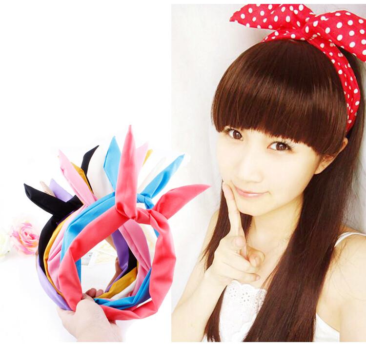 日韓流行兔耳朵造型髮箍