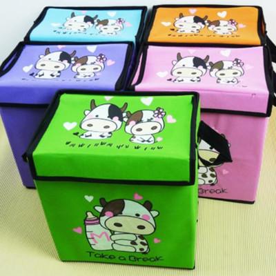 可愛乳牛無紡布折疊式收納盒【21L】【BNA025】 (3.2折)