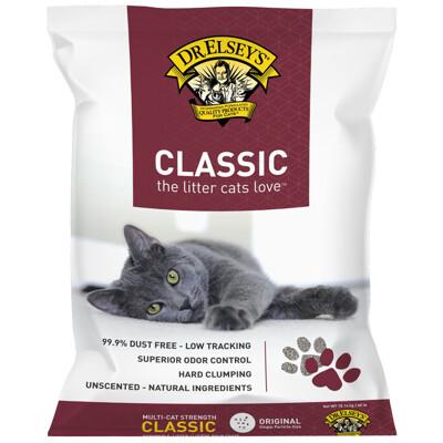 DR.ELSEY'S貓艾歐|貓砂經典紅標-CLASSIC低敏除臭40磅 (10折)