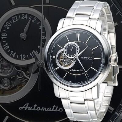 【SEIKO】時代巨匠雙模上鍊機械男錶-黑(SSA265K1) (6.5折)