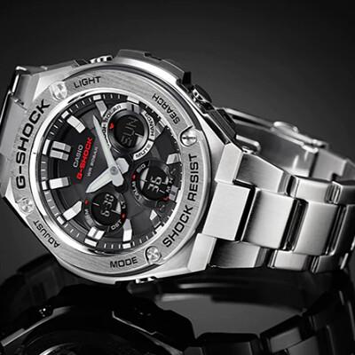G-SHOCK 絕對強悍太陽能數位手錶-銀色/不鏽鋼(GST-S110D-1A) (9折)