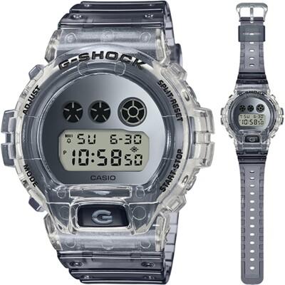 CASIO卡西歐 G-SHOCK灰色調復古風數位電子錶-透明(DW-6900SK-1D) (7.2折)