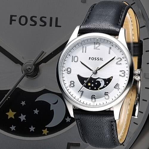 fossil白晝時梭日相功能男錶-銀/黑(fs4846)