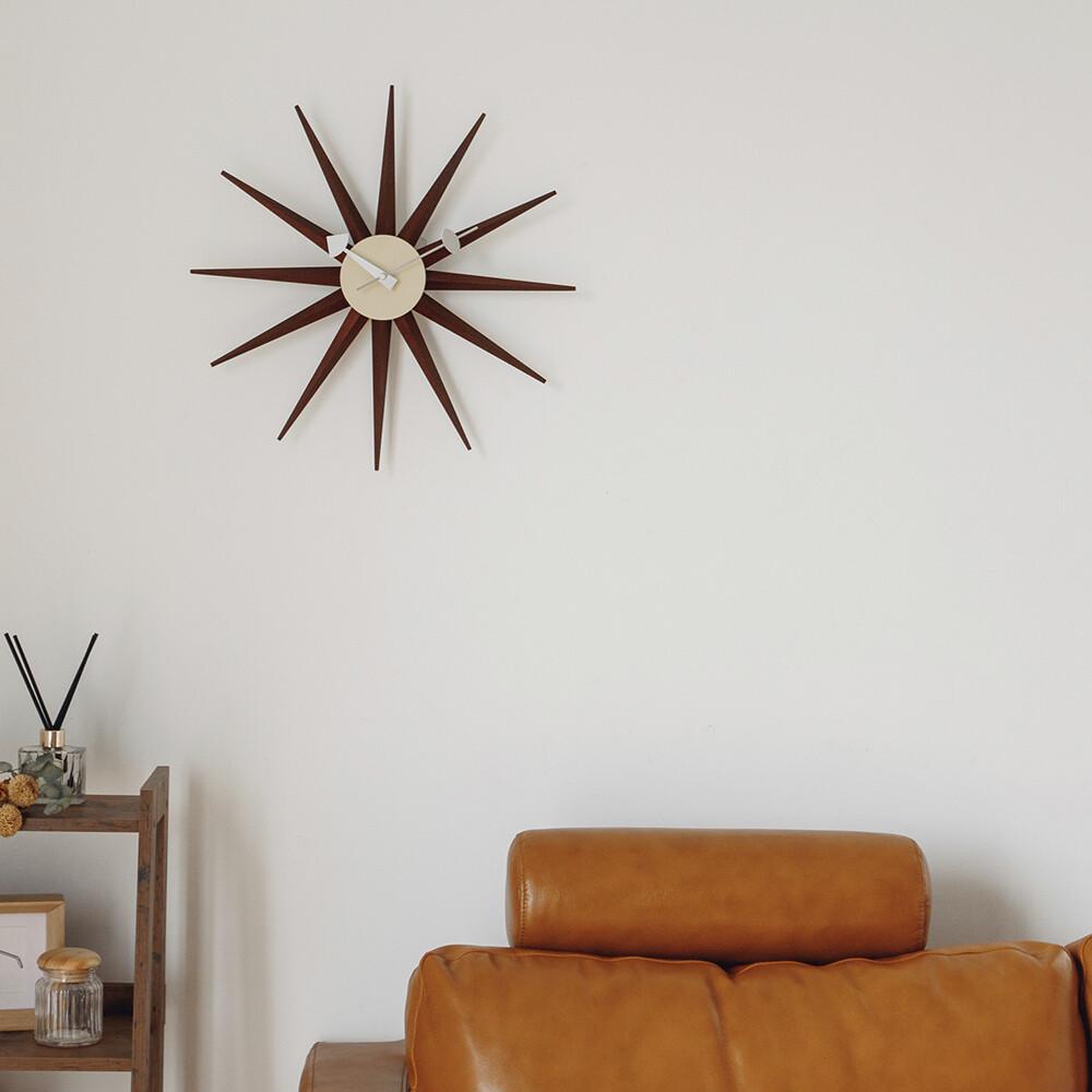 綻放壁鐘/時鐘/掛鐘/光芒/金屬/sunburst clock/3色/r0008