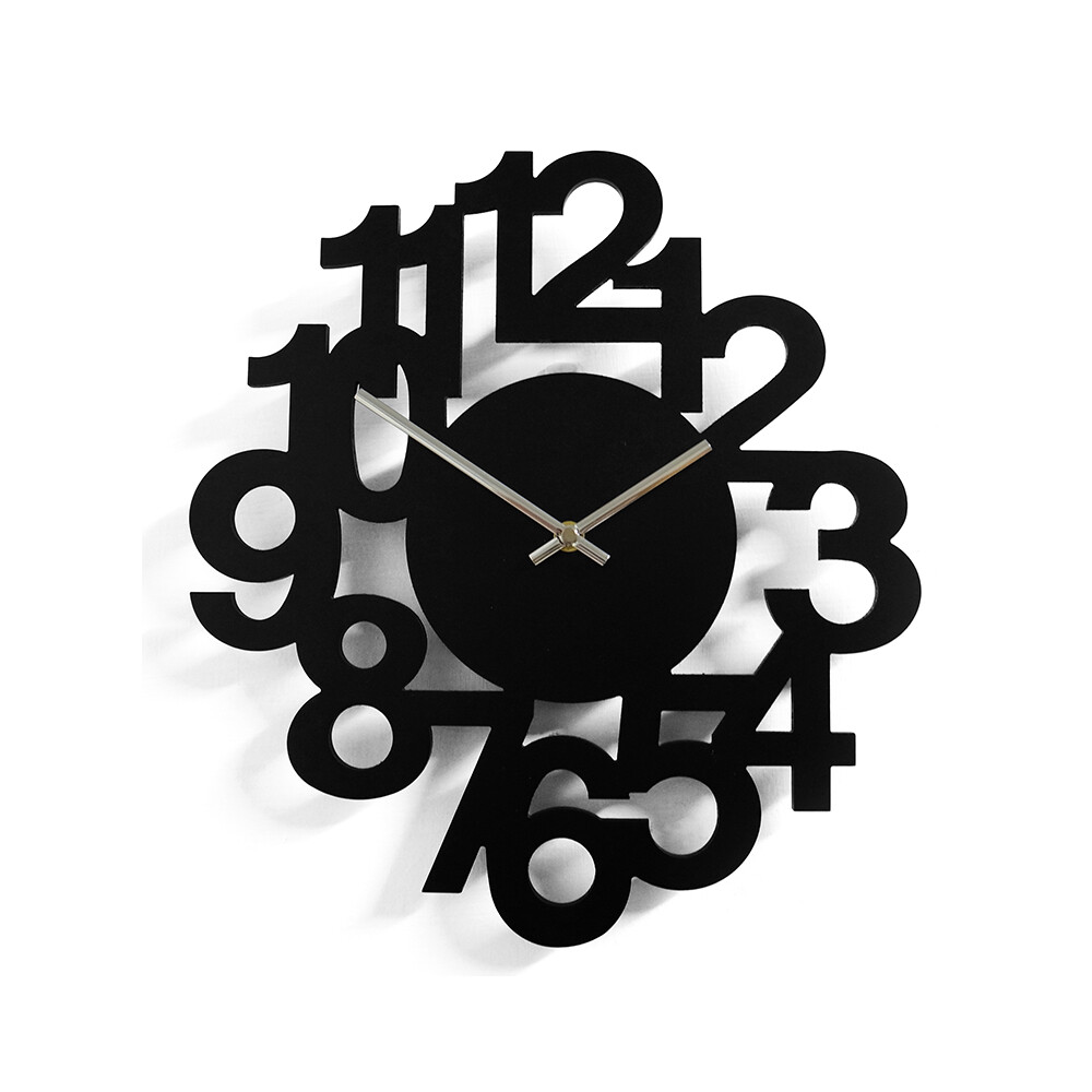 簡約數字造型壁鐘/時鐘/掛鐘/2色/r0012