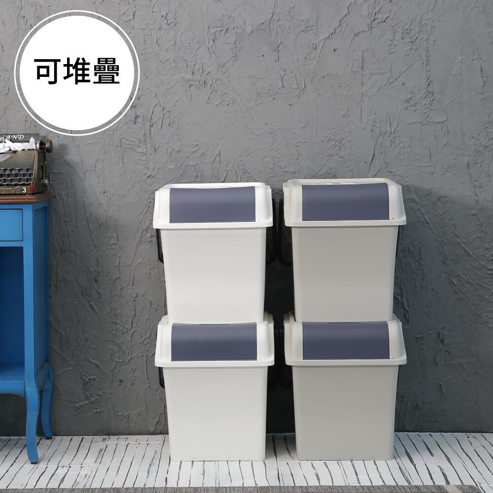 韓國製輕鬆可提式垃圾桶/收納箱/回收桶/45l/2色/g0069