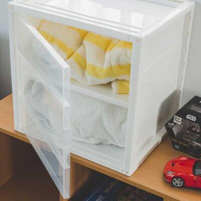 簡約多功能DIY置物箱/收納/塑膠櫃/收納櫃/衣櫃/收納箱/2色/R0084