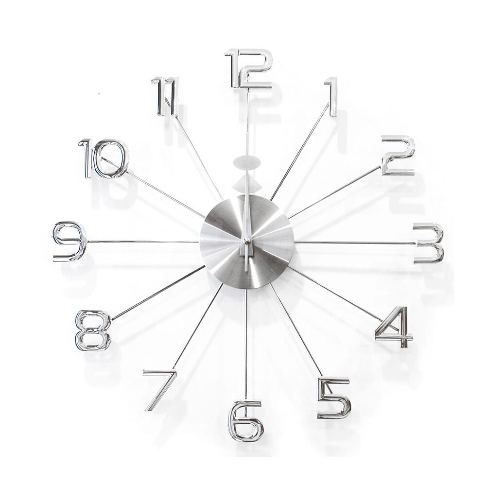 金屬光澤數字壁鐘/時鐘/掛鐘/r0013