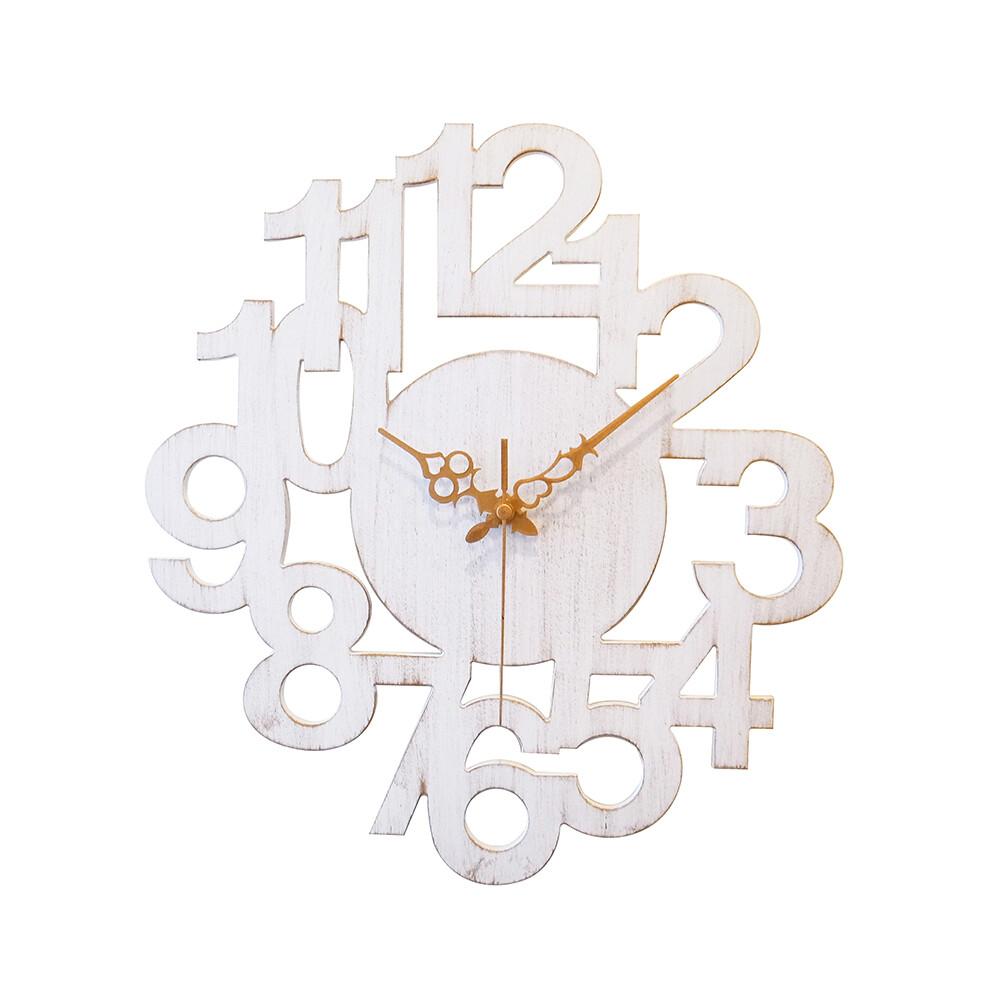 復古數字造型壁鐘/時鐘/掛鐘/2色/r0012-a