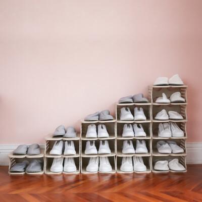 六層塑膠透氣鞋櫃/鞋櫃/鞋架/收納櫃/鞋盒/堆疊鞋架/2色/F0078