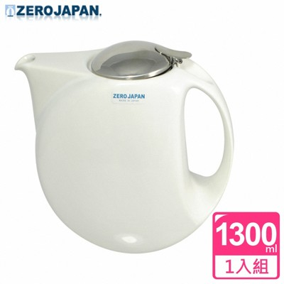 【ZERO JAPAN】月亮陶瓷不鏽鋼蓋壺(白)1300cc (8.4折)
