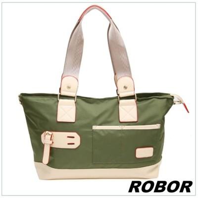 韓系型男 ROBOR韓版休閒百搭中性尼龍側背包旅行包(軍綠) (3.7折)