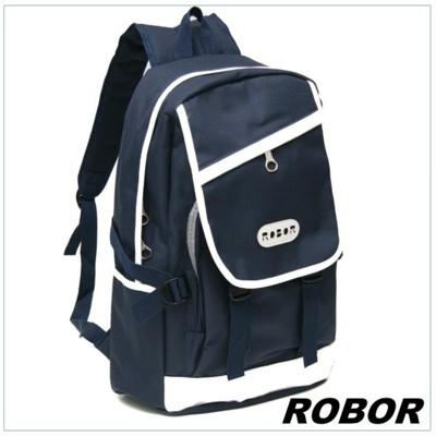 韓系型男 ROBOR潮流百搭休閒簡約後背包(藍色) (3.7折)