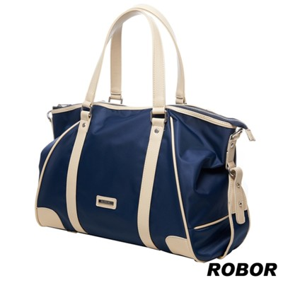 韓系型男 ROBOR貫穿時尚潮派休閒風大容量多功能托特包(皇家藍) (4.6折)