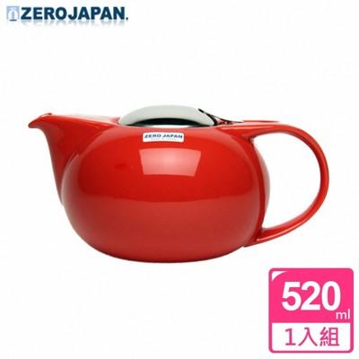 【ZERO JAPAN】嘟嘟陶瓷壺(蕃茄紅) 520cc (5.8折)