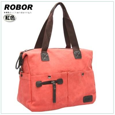 韓系型男 ROBOR法式時尚側背/手提/斜背三用包(紅色) (3.7折)
