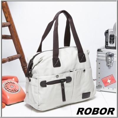 韓系型男 ROBOR法式時尚側背/手提/斜背三用包(米白) (3.7折)