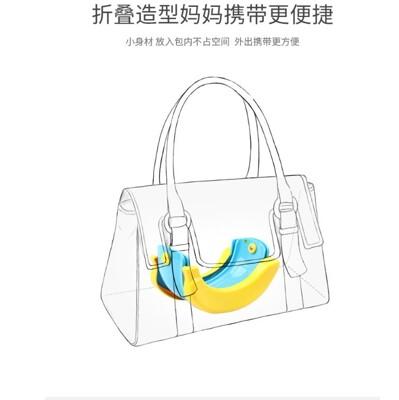 攜帶香蕉折疊兒童馬桶台灣熱賣兒童坐便器卡通香蕉折疊免清洗兒童車載馬桶小便器a (7.7折)