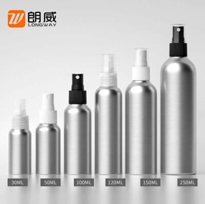 30ml -100ML酒精空瓶 鋁瓶噴霧瓶 香水瓶 防曬 噴霧分裝瓶 補水瓶 化妝品分裝鋁瓶配噴頭