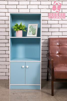 『居傢樂生活館』三格雙門書櫃(2色) 收納 組合櫃 櫃子 書架 置物櫃 (7.7折)