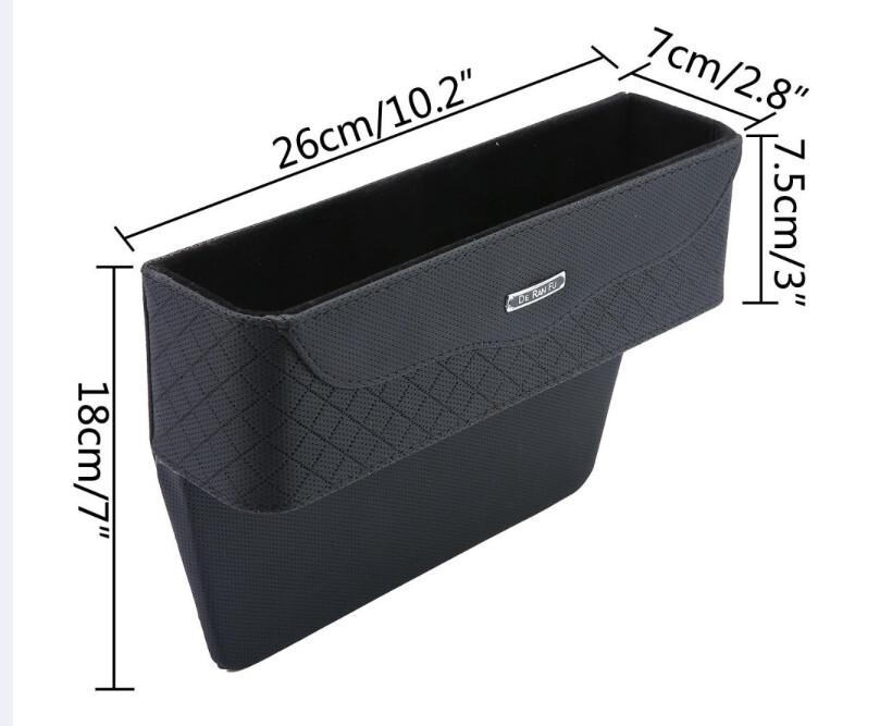 超大心高質感汽車用縫隙置物盒 零錢收納置物盒 汽車 置物 椅縫置物盒 #245