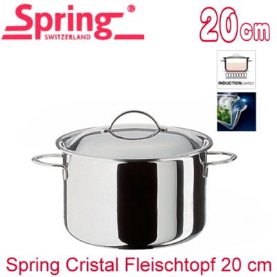 【瑞士Spring】CRISTAL複合金高身雙耳湯鍋-20cm(8554-20) (9折)