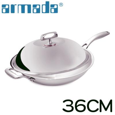 《armada》菁英系列316不鏽鋼複合金瑞士單柄炒鍋(36cm) (6折)