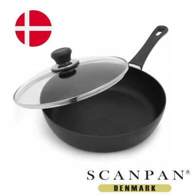 【丹麥SCANPAN】思康鍋28cm單柄平底鍋 (送鍋蓋+木鏟) (7.6折)