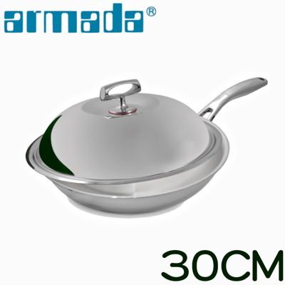 《armada》菁英5層316不鏽鋼複合金瑞士單柄炒鍋30cm (6折)