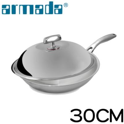armada菁英5層316不鏽鋼複合金瑞士單柄炒鍋30cm (6折)