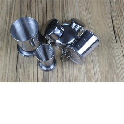 野餐露營必備304不鏽鋼可摺疊伸縮鋼杯 (1.7折)