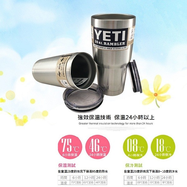 酷冰杯 yeti304不鏽鋼酷冰杯(加贈不鏽鋼彎形吸管)
