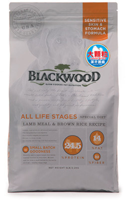 【BLACKWOOD柏萊富】功能性全齡護膚亮毛(羊肉+米)大顆粒-犬飼料/乾糧-30磅(13.6KG (8.5折)