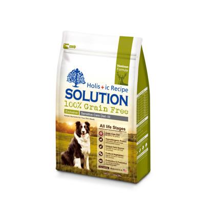 【SOLUTION耐吉斯】成幼犬紐西蘭鹿肉無穀低敏柔膚-3磅(1.36KG) (6.9折)