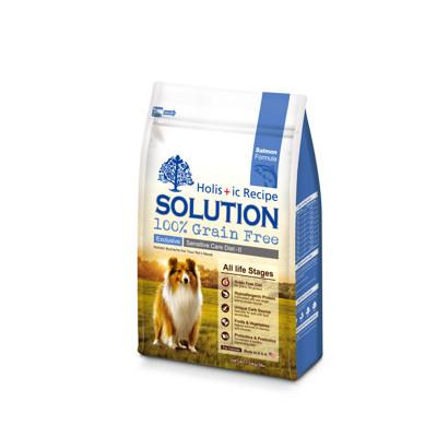 【SOLUTION耐吉斯】成幼犬大西洋鮭魚無穀低敏柔膚-16磅(6.8KG) (8.4折)