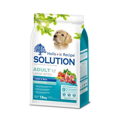 【SOLUTION耐吉斯】成犬羊肉田園蔬菜大顆粒-15公斤 (8.6折)