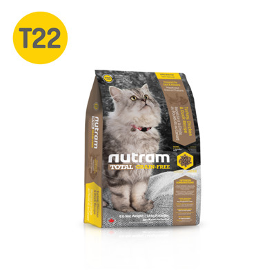 【 NUTRAM 紐頓】無穀全能系列 T22 潔牙 火雞 貓糧 -6.8KG (6.1折)