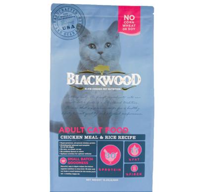【BLACKWOOD柏萊富】特調成貓亮毛(雞肉+米)貓飼料/乾糧-4LB(1.82kg) (7.7折)
