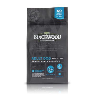 【BLACKWOOD柏萊富】特調成犬活力(雞肉+米)犬飼料/乾糧-15LB(6.8kg) (8.7折)