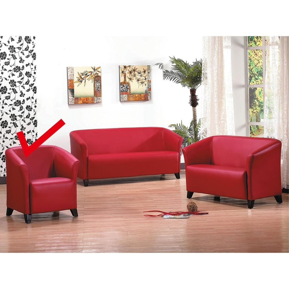 75cm單人座皮沙發-k758-1 單人座 l型沙發 貓抓皮 布沙發 沙發床 沙發椅 金滿屋