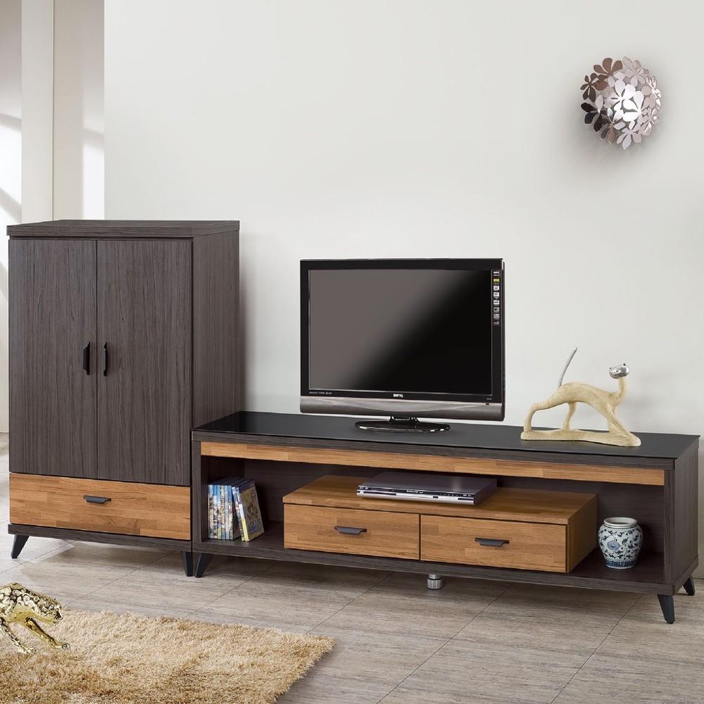 256cml型櫃-c707-1客廳組合長櫃 展示收納櫃 北歐工業風 tv櫃 金滿屋