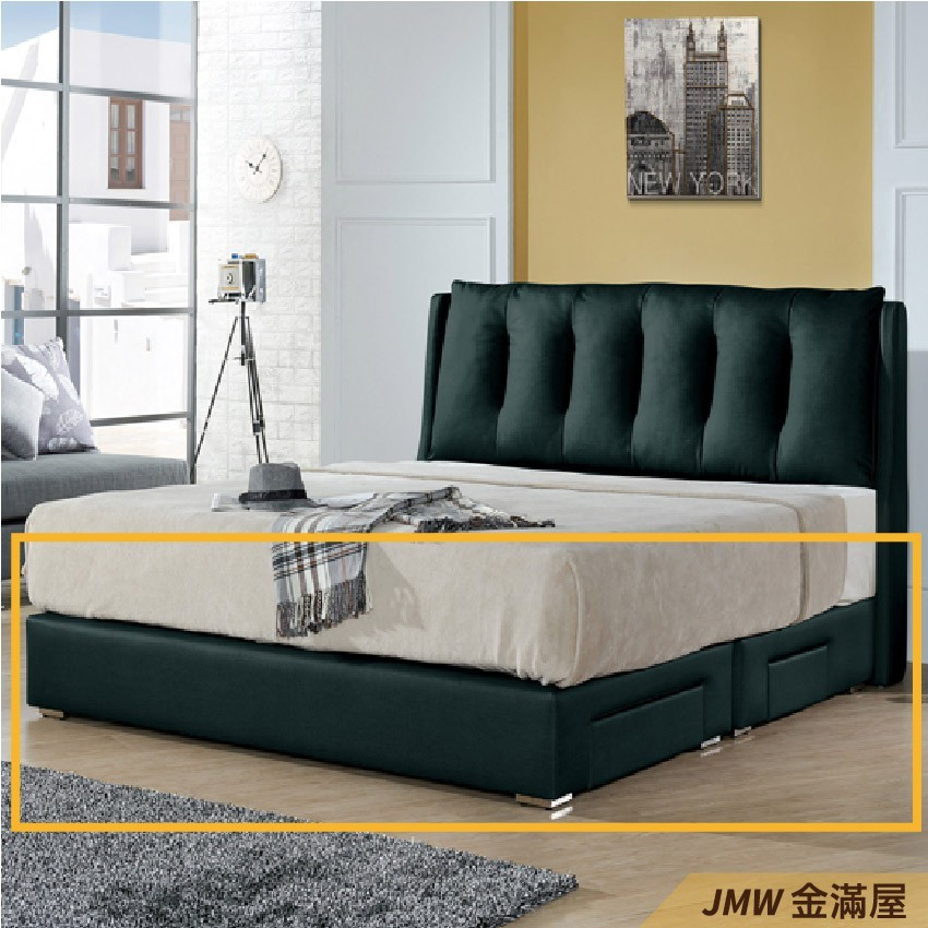 [免運]標準雙人5尺 床底 單人床架 高腳床組 抽屜收納 臥房床組金滿屋-sh255-4