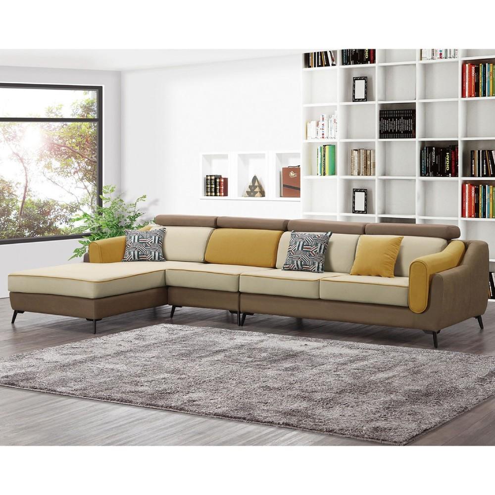 340cml型右向布沙發-a227-2 單人座 l型沙發 貓抓皮 布沙發 沙發床 沙發椅 金滿屋