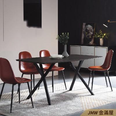 餐桌伸縮 長型餐桌組 北歐大理石桌子 圓形桌 方形收納摺疊桌 餐桌椅組【金滿屋】E734-1 (6.7折)