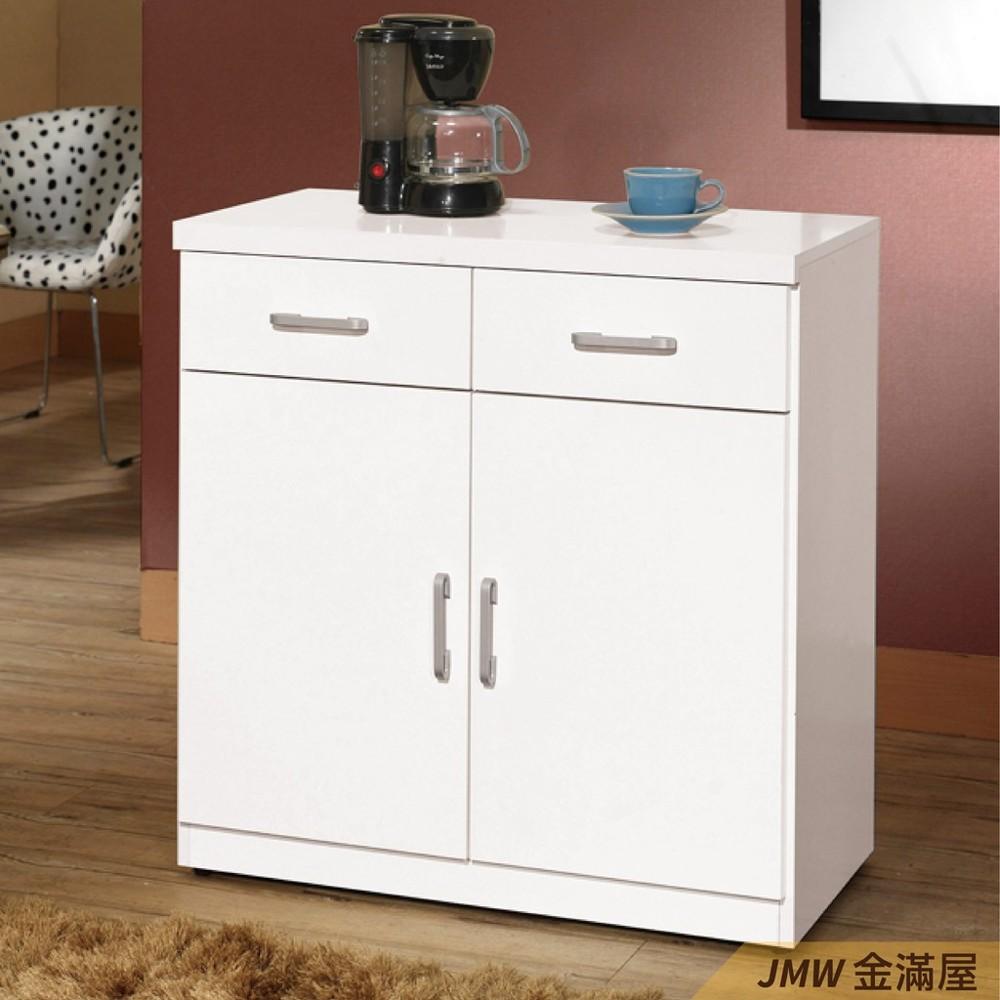 80cm北歐餐櫃收納 實木電器櫃 廚房餐櫥櫃 碗盤架 大理石金滿屋尺餐櫃-sh848-6