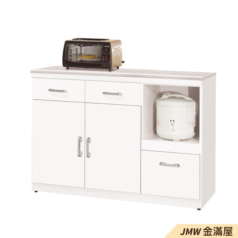 120cm北歐餐櫃收納 實木電器櫃 廚房餐櫥櫃 碗盤架 大理石金滿屋尺餐櫃-sh849-5