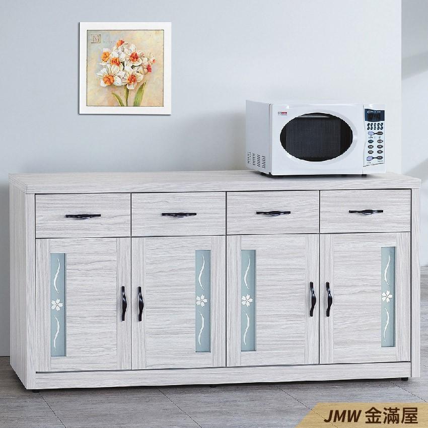 153cm 北歐餐櫃收納 實木電器櫃 廚房櫃 餐櫥櫃 碗盤架 中島大理石金滿屋尺餐櫃-g842-