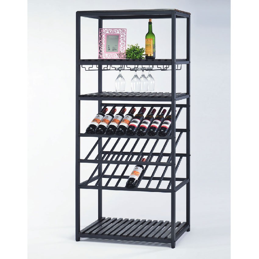 80cm酒櫃-e639-18北歐工業 置物櫃 玻璃實木 書房書櫃書架 櫥櫃 層架收納整理 金滿屋